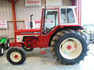 International 475 2WD, 1976 LBX 745P, 62 HP approx., 1 spool, top link, toolbox