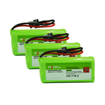 New 3x 2.4V Replacement Battery For Uniden DECT BT1008 BT-1021 Cordless Phone CA