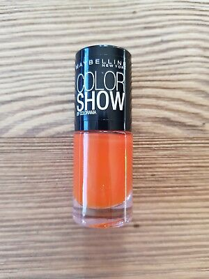 Vernis Gemey Maybelline Color Show 312 Wow Orange