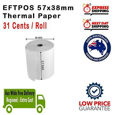 100% Best Price 20/120/240/360x 57x38mm Eftpos Rolls Thermal Paper Cash Register