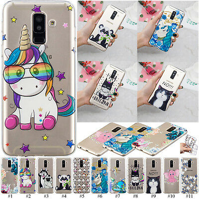 3D Embossed Slim TPU Case Clear Phone Cover For Samsung Galaxy J6 J4 A6 J8 J3 J5