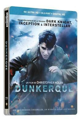 Dunkerque Steelbook 4K Ultra Hd + Blu Ray  Neuf Sous Cellophane