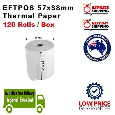 120 Rolls 57x38mm Thermal Roll EFTPOS Cash register Roll