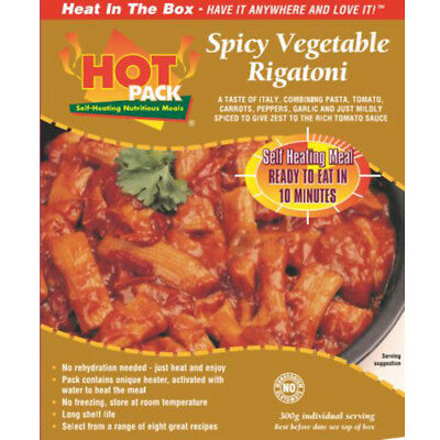 HOT PACK SELF HEATING MEAL IN A BOX SPICY VEGETABLE RIGATONI Pack of 24