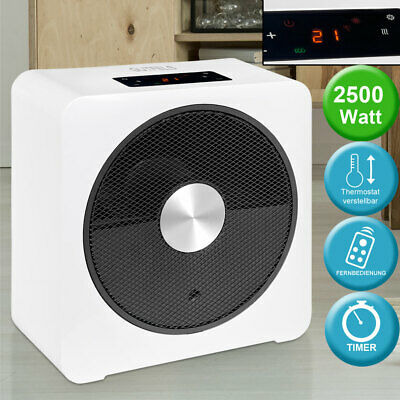 Heating Fan 2500W Ceramic Heating Element Remote Control LED Display Dust Filter
