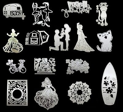 80 DESIGNS Dogs, Cats, Fish, Horses, Animals Metal Cutting Dies Cards Craft