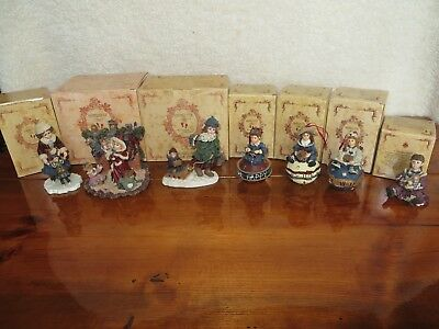 Lot of 7 Boyds Yesterdays Child Figurines Ornaments with boxes