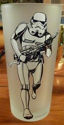 Vintage Star Wars Licensed Stormtrooper Frost Glass Tall Tumbler Drinking Cup