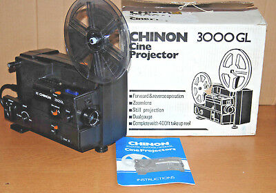 Chinon 3000 Gl Dual Super 8 Std 8 Cine Movie Film Projector Fully Serviced
