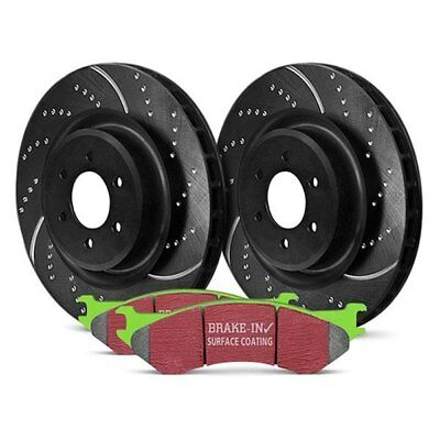 EBC GD1474 3GD DRILLED /& SLOTTED SPORT BRAKE ROTORS REAR