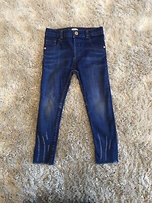 Girls River Island Molly Skinny Jeans Age 3-4 Years