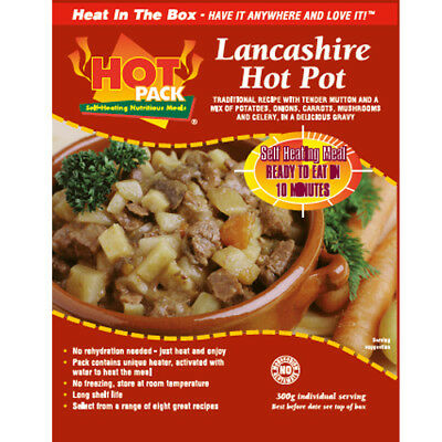 Hot Pack SELF HEATING  Meal in a Box Lancashire Hotpot Pack of 24