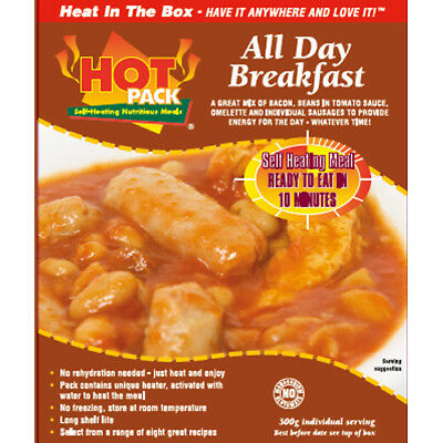 HOT PACK SELF HEATING MEAL IN A BOX ALL DAY BREAKFAST Pack of 12
