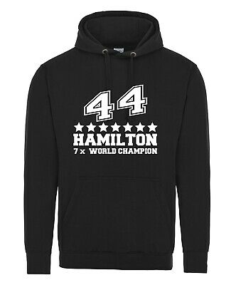 LEWIS HAMILTON 5 x WORLD CHAMPION HOODIE Hoody Not T-shirt or cap F1 Mercedes 44