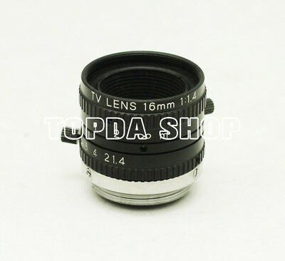 "1PC TV 16mm 1:1.4 16/1.4 2/3"" Megapixel Black and white CCD industrial camera#SS"