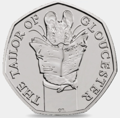 2018 50P Coin The Taylor Of Gloucester Uncirculated Fifty Pence Beatrix Potter @