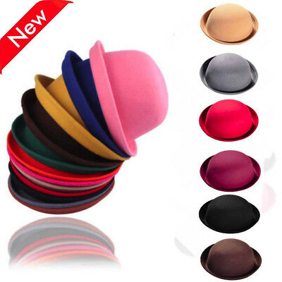 NEW Fashion Vintage Women s Wool Cute Trendy Bowler Derby Hat Beret Hat Caps 3e88b87087a8