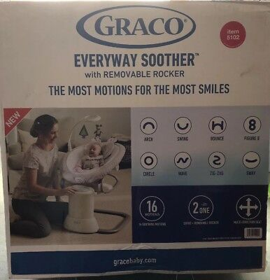 Graco Baby EveryWay Soother with Removable Rocker Tristan Fashion NEW