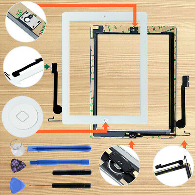 Replacement Touch Screen Digitizer + Home Button For iPad 4 A1458 A1459 A1460