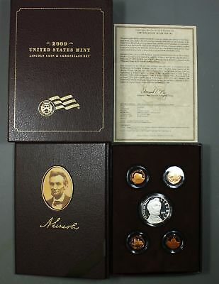 2009    Abraham Lincoln Coin and Chronicles Set    5 Coins with Silver Dollar
