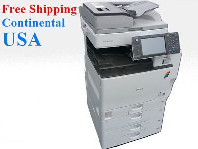 Ricoh MP C5502 Color Tabloid Copier Finisher. All-in-One. Meter less than 30k