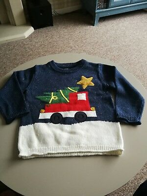 Boys Next Christmas Jumper - flashes (18-24 months)