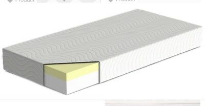 Memory Foam Cot Mattress With Washable Zip Cover 140x70x10cm