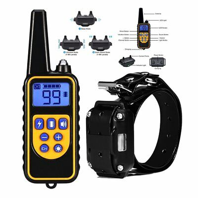 Waterproof Pet Dog Anti-Bark Training Collar with Remote LCD E-Collar Trainer