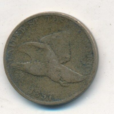 1857 Flying Eagle Cent-Very Nice Circulated Early Small Cent-Ships Free! Inv:5