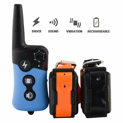 Electric Anti Bark E-Collar Dog Training Collar Pet Trainer Remote Rechargeable