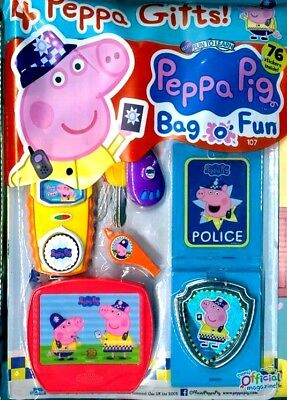 PEPPA PIG BAG OF FUN MAGAZINE ISSUE #107 ~ NEW WITH 4 x PEPPA GIFTS ~