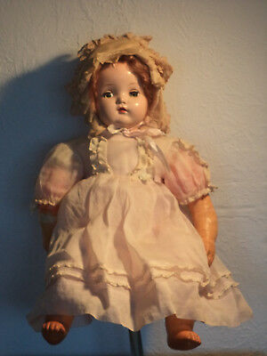 Vintage 1950's MADAME ALEXANDER LITTLE GENIUS DOLL 20""