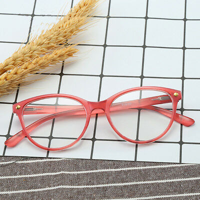 69fdd6220f98 Womens Cat Eye Reading Glasses Transparent Clear Frames Readers Fashion  +1.0~4.0