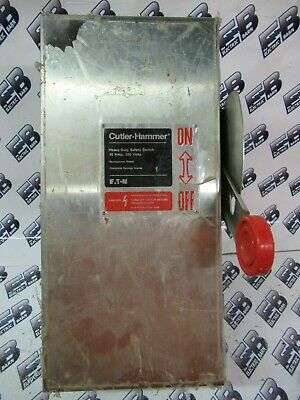Cutler Hammer Dh221Nwk, 30 Amp 240 Volt Fusible Stainless Steel Disconnect- New