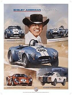 """Bill Neale's """" Famous Five"""" Shelby Poster"""