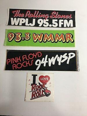Vintage Lot Of Rock Radio Stations Bumper Stickers Philly (WMMR /WYSP) NY (WPLJ)