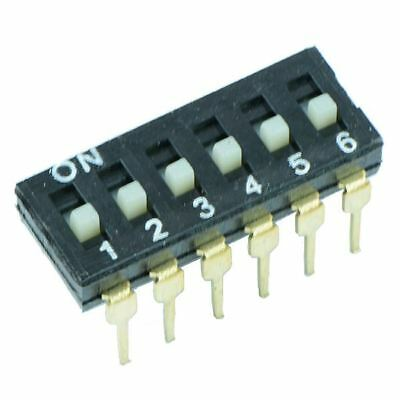 6 Way Low Profile DIL DIP Switch
