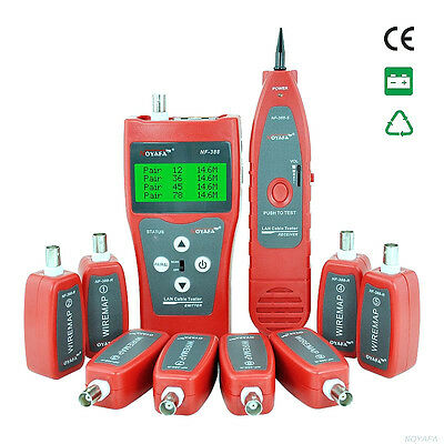 Professional NF-388 Network Cable Tester Tool Tracker Tracer with 8 Remote CS01