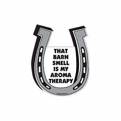 That Barn Smell Is My Aromatherapy Horse Horseshoe Car Magnet