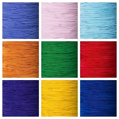 1mm Round Cord Elastic For Crafts Beads Beading Masks Hats Jewellery