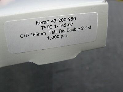 BOX OF 1000 43-200-950 6.5 INCH 165mm DOUBLE SIDED TAIL TAGS EM SECURITY STRIPS