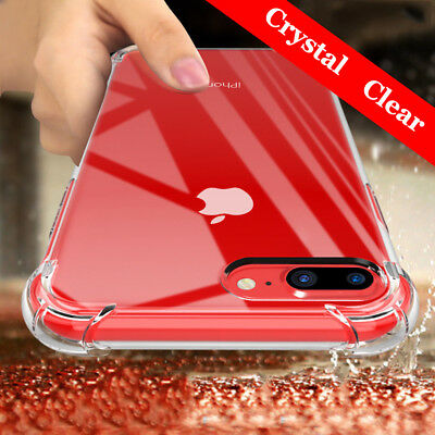 For iPhone XS Max XR X 7 8 Plus Clear Transparent Shockproof Bumper Case Cover