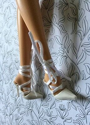 Barbie Model Muse Shoes Best Models On Location South Beach White Ribbons Pumps