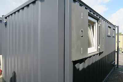 16x9 Ft Anti Vandal Site Office canteen + ToIlet Building/Canteen Container