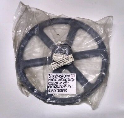 """AMERICAN DRYER CORPORATION 14""""x 3"""" COMPOUND PULLEY PN: 101140 ADC101140 NEW PART"""
