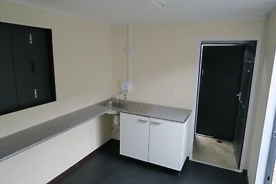 16x9 Ft Anti Vandal Site Office / canteen + ToIlet. Building/Canteen Container