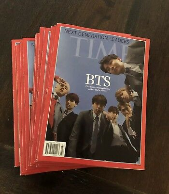 [US seller] BTS TIME Magazine Asia Edition Cover BTS Oct 2018