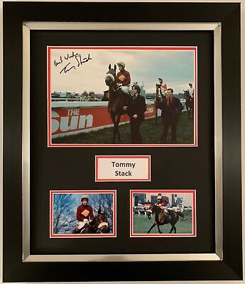 Tommy Stack Hand Signed Framed Photo Display Red Rum Grand National 2.