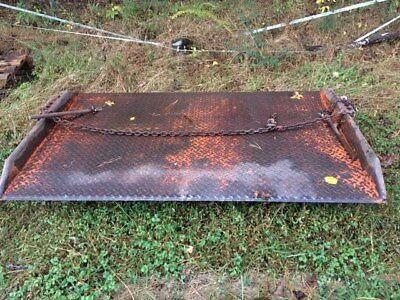 """22,000lb Steel Dock Plate, 76"""" x 50"""" Driving Surface, 1"""" Locking Pins Each Side"""