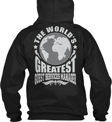 Worlds Greatest Guest Services Manager S - The World's Gildan Hoodie Sweatshirt